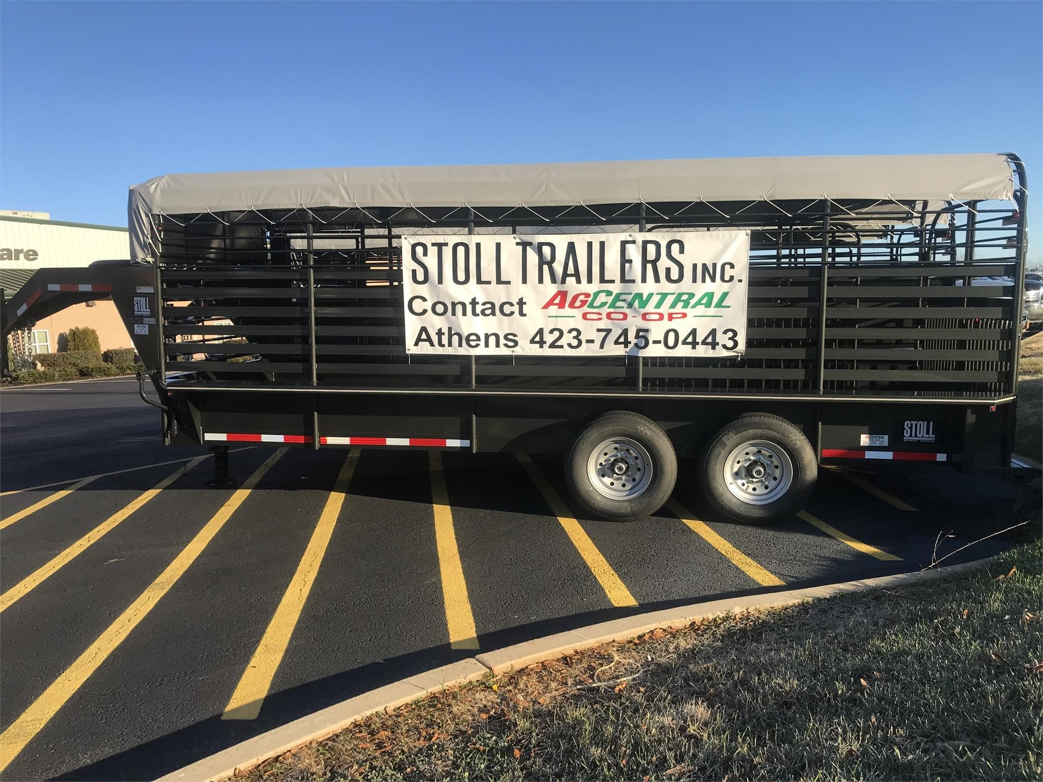 2021 Stoll 6.5FT X 24FT Livestock Trailer