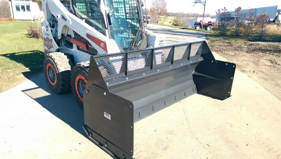 Jenkins 10' HIGH VOLUME SCREEN FOR SNOW PUSHER Loader and Skid Steer Attachment