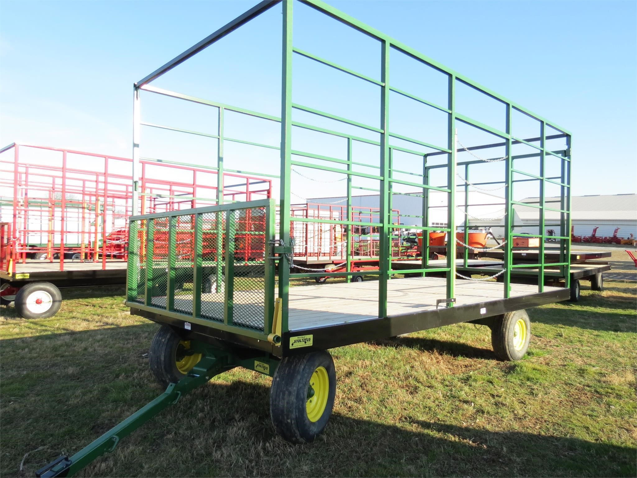 2020 Stoltzfus 8.5x18 Bale Wagons and Trailer