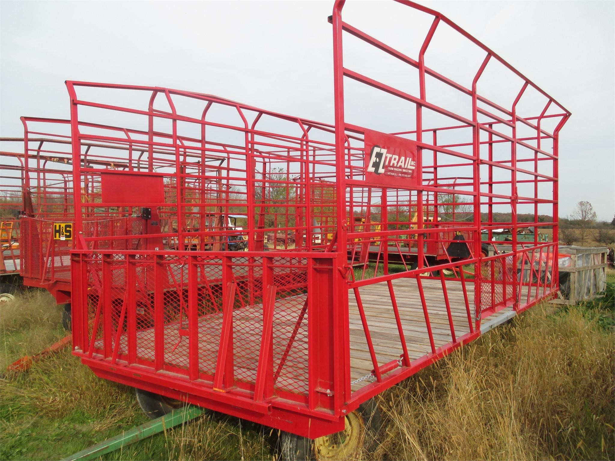 E-Z Trail 918 Bale Wagons and Trailer
