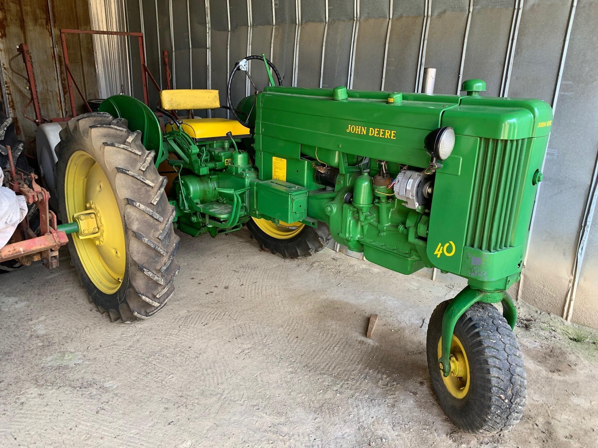 1953 John Deere 40T Tractor