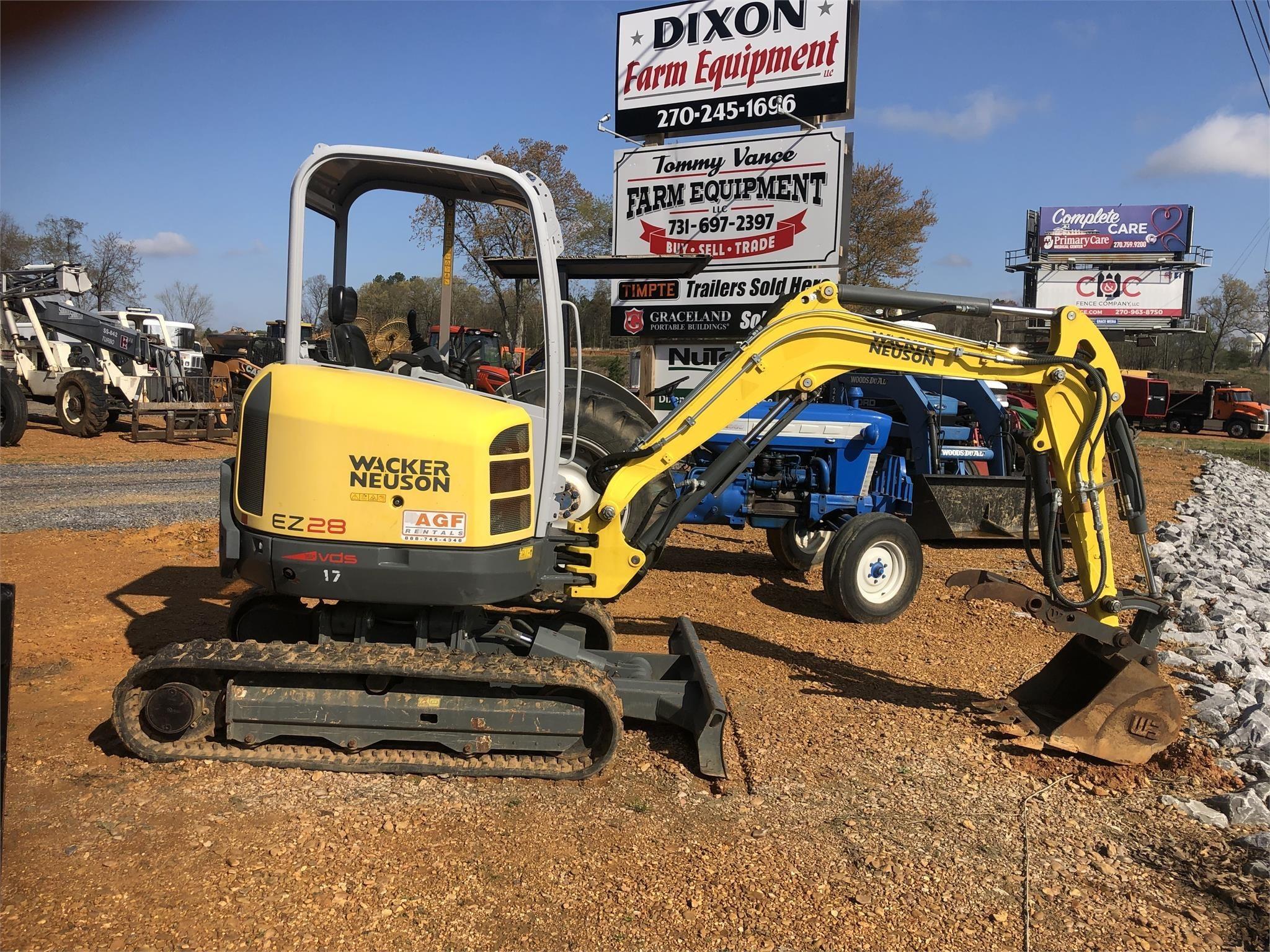 2016 Wacker Neuson EZ28 Excavators and Mini Excavator