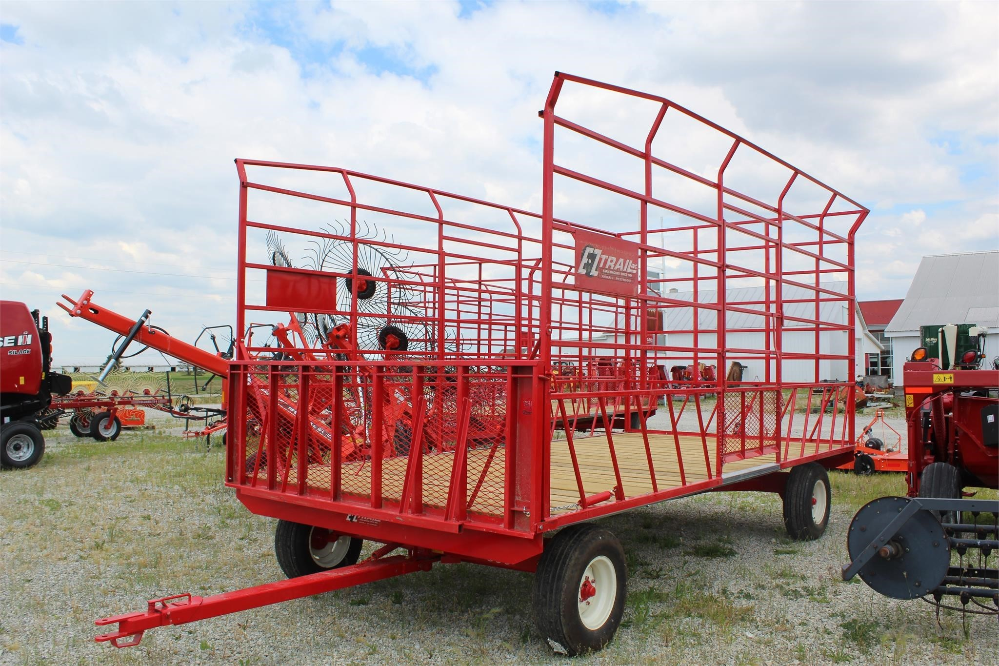 2020 E-Z Trail 918 Bale Wagons and Trailer