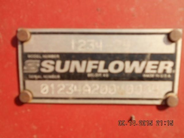 2004 Sunflower 1234-29 Disk