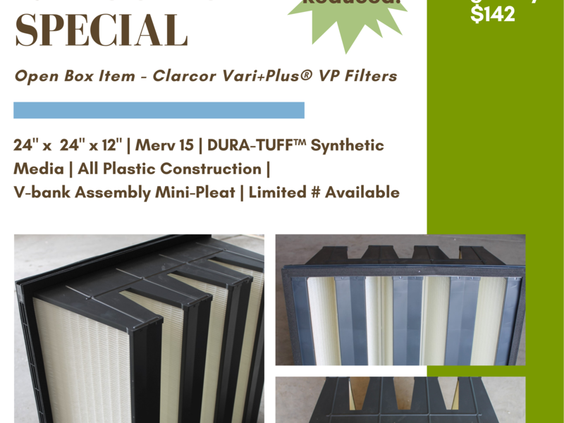 Newly Reduced - Clarcor Vari-Plus V-Bank Filters