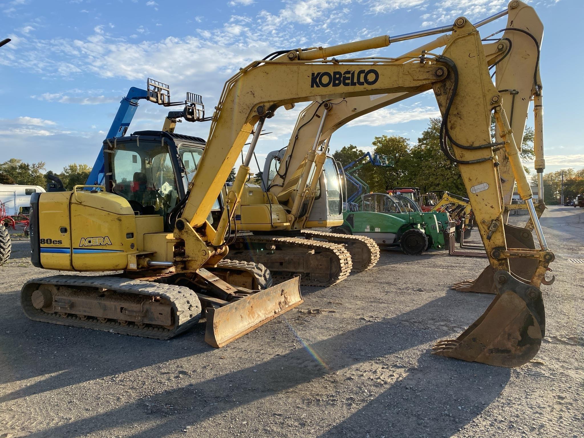 2012 Kobelco SK80CS-2 Excavators and Mini Excavator
