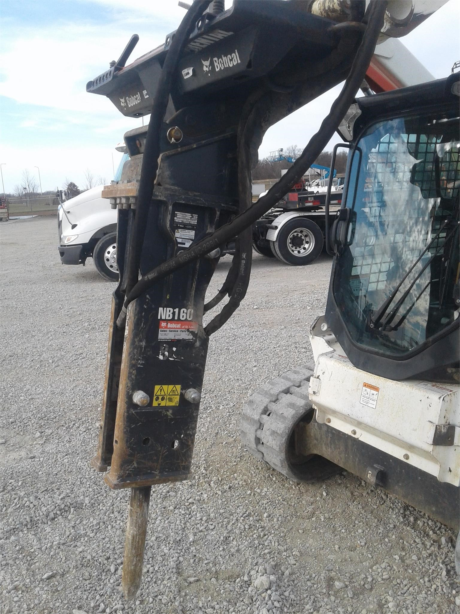 2019 Bobcat NB160 Loader and Skid Steer Attachment