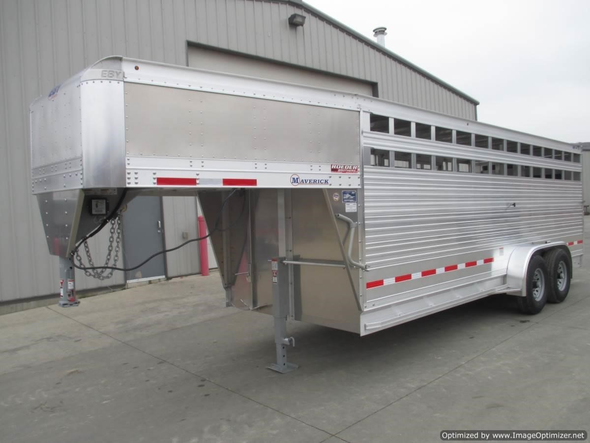 2021 EBY MAVERICK 7' X 20' GN ALUM. STOCK TRAILER Livestock Trailer