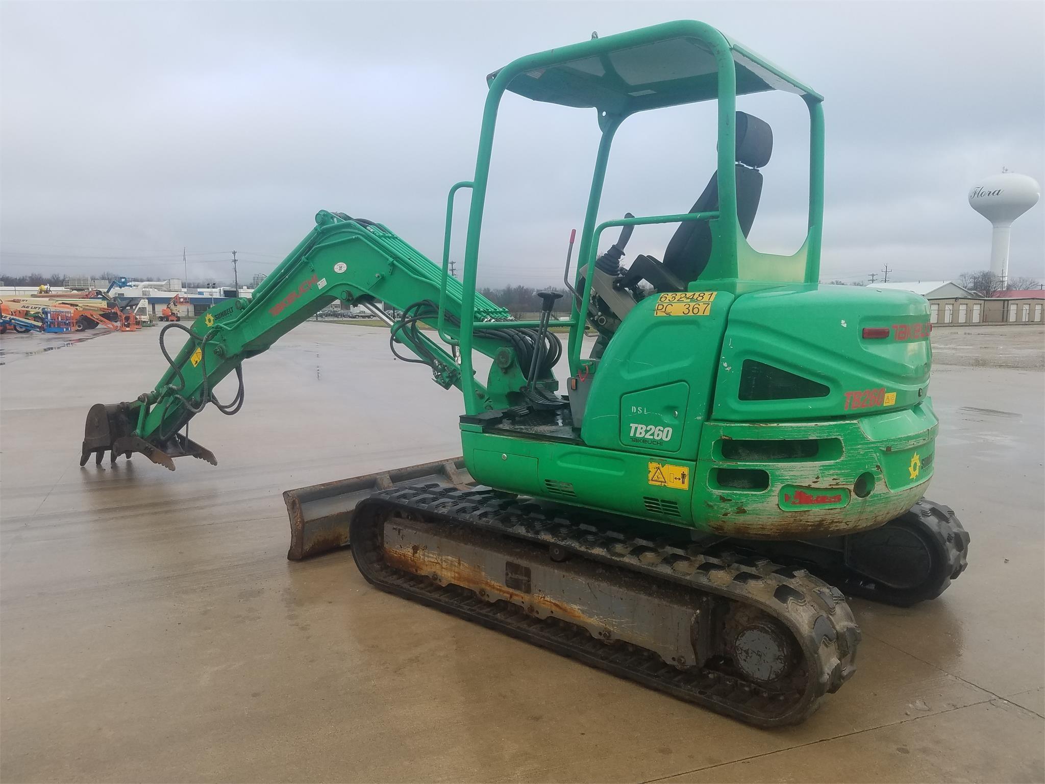 2014 Takeuchi TB260 Excavators and Mini Excavator