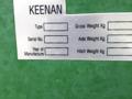 2014 Keenan Mech-Fiber 360 Grinders and Mixer