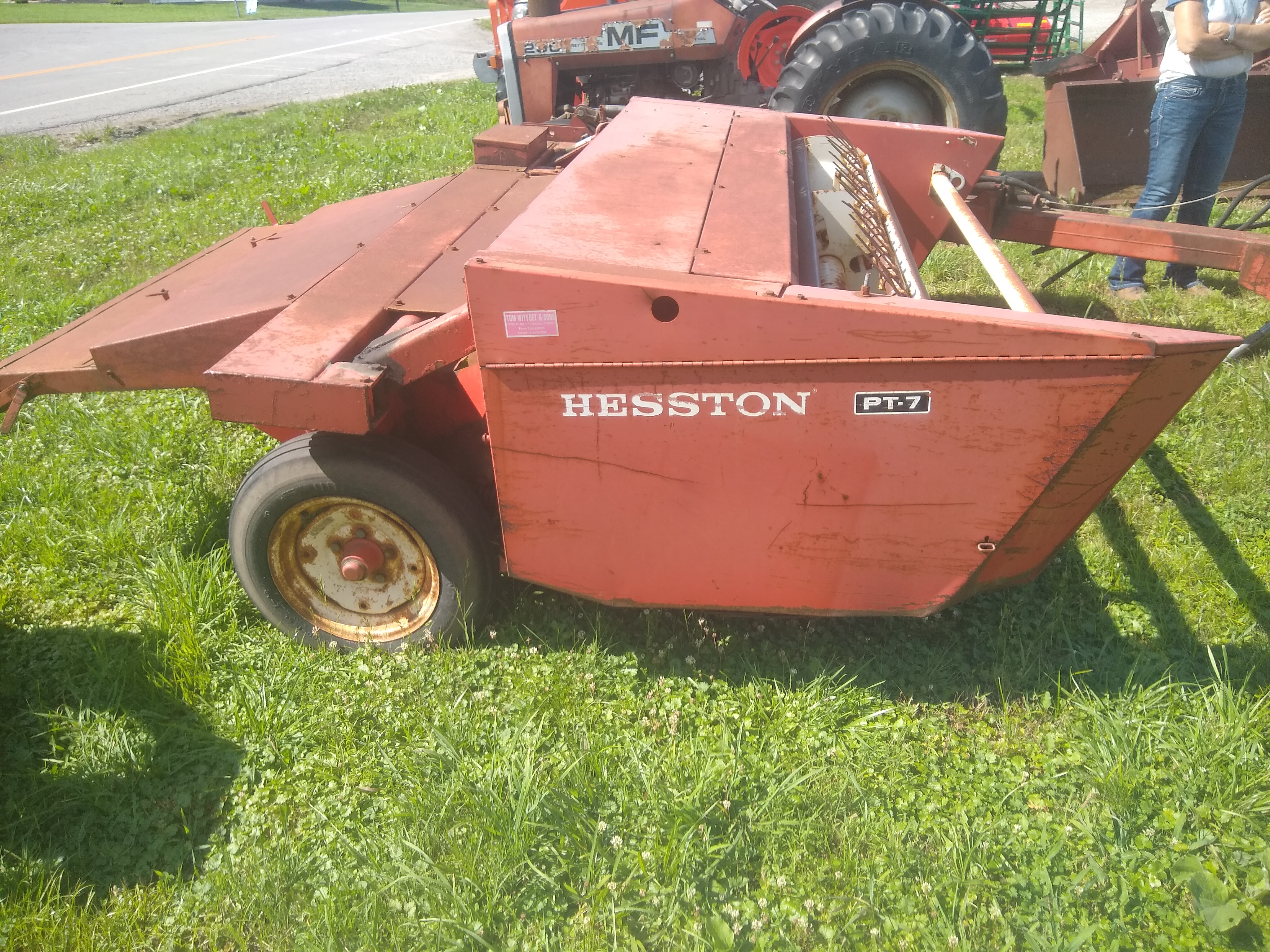 Hesston PT7 Pull-Type Windrowers and Swather