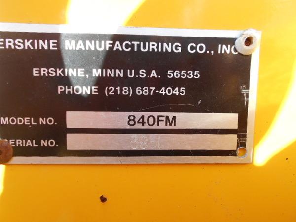 Erskine 840FM  Loader and Skid Steer Attachment