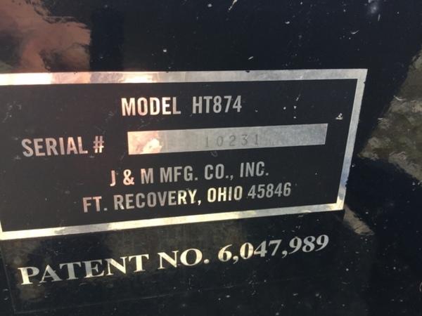 2009 J&M HT-874 Header Trailer