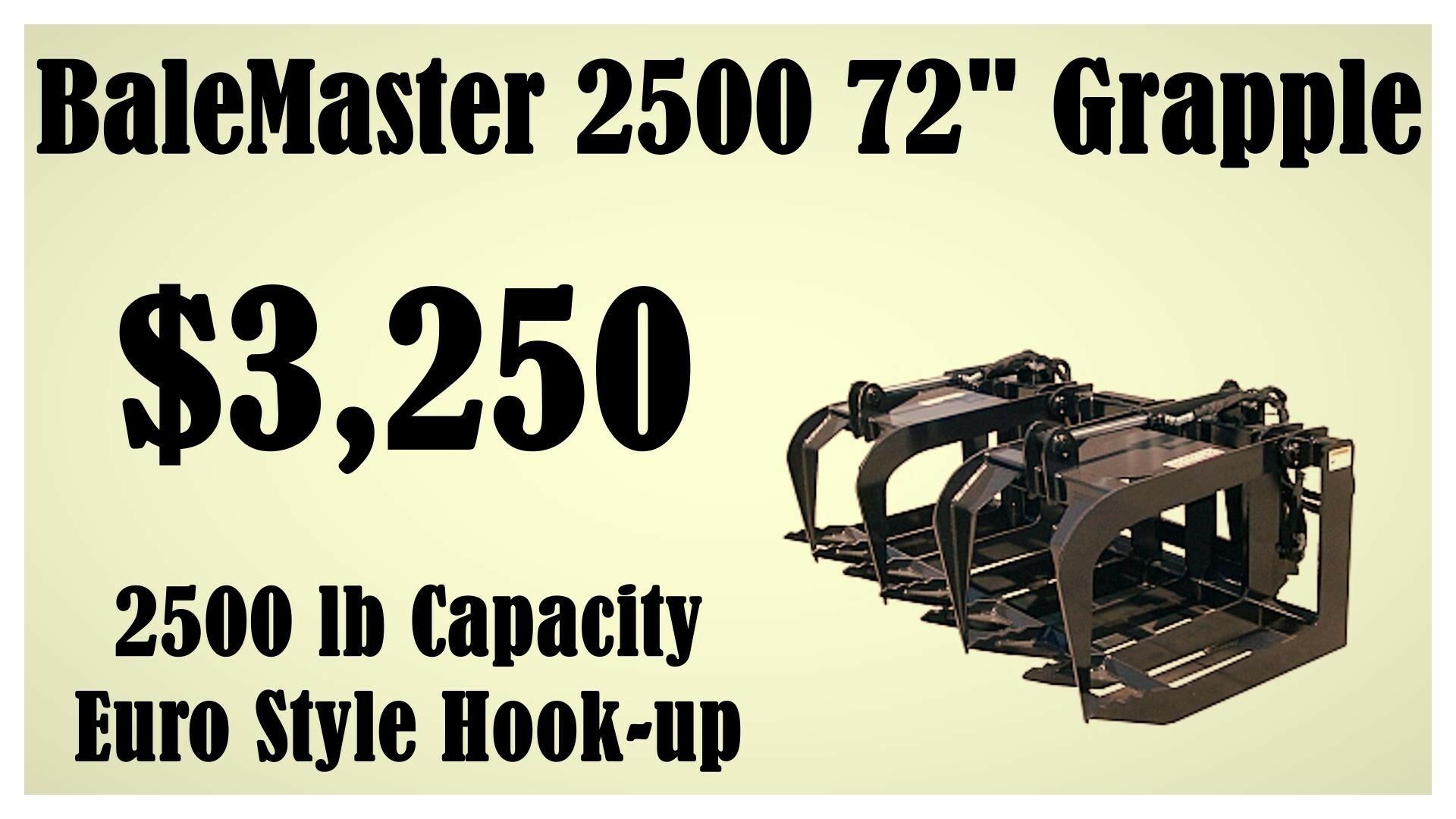 BALEMASTER MFG 2500 Loader and Skid Steer Attachment