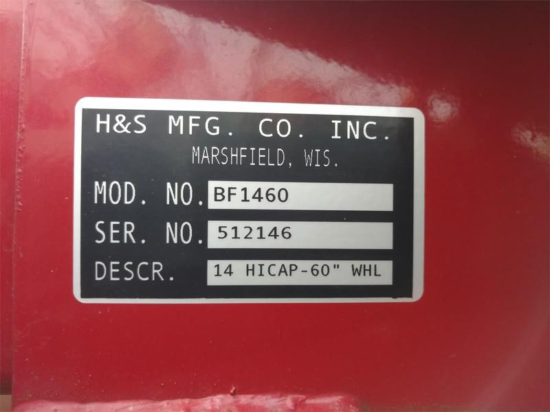 2015 H & S BF1460 Rake