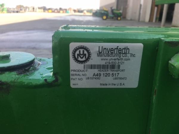 2009 Unverferth HT36 Header Trailer