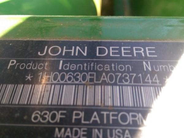 2010 John Deere 630F Platform