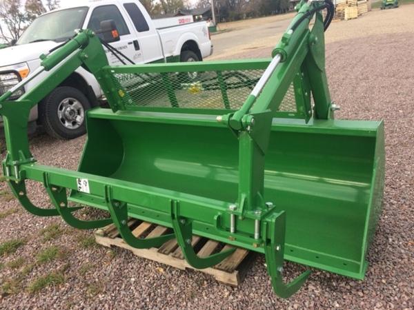 John Deere Skid Steer Attachments : John deere ft tine grapple loader and skid steer