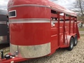 2018 Valley 26016 16FT STOCK TRAILER Box Trailer