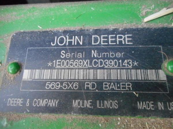 2013 John Deere 569 Round Baler