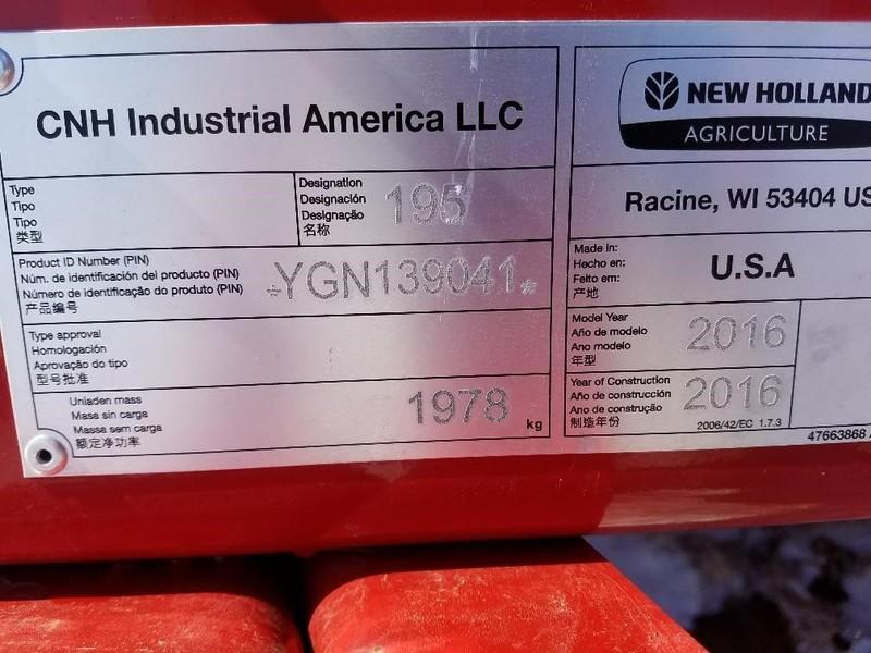 2016 New Holland 195 Manure Spreader