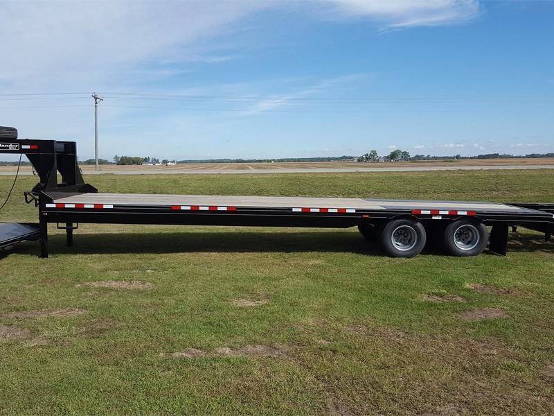 Used Mac Lander 33 Gooseneck Flatbed Trailers For Sale Machinery Pete