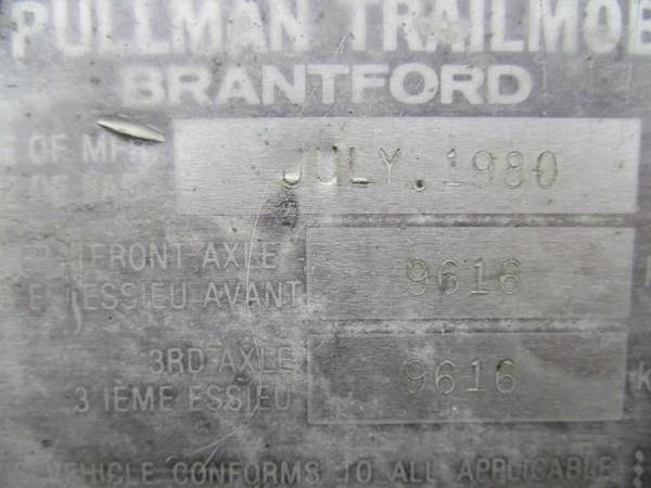 1980 Pullman ALUMINUM DUMP TRAILER Dump Trailer