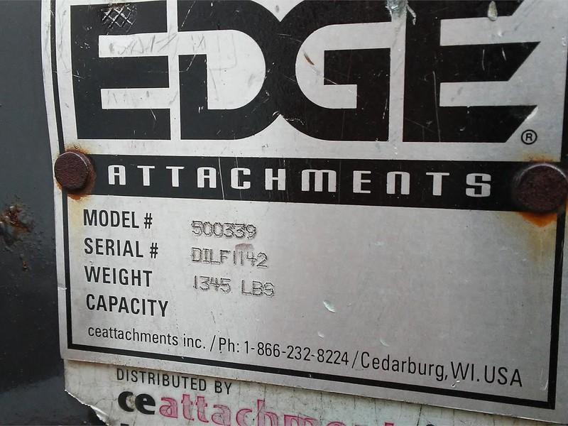 EDGE 500339 Loader and Skid Steer Attachment
