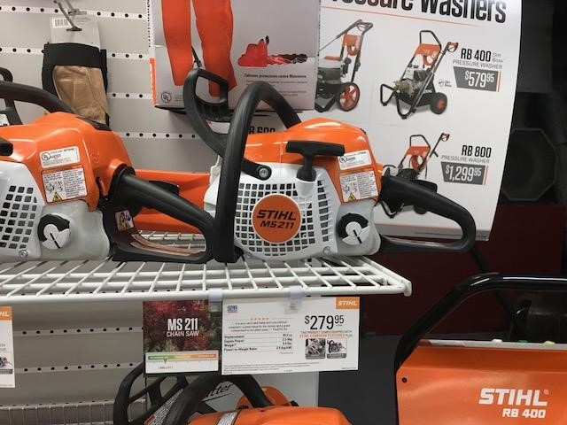 2019 Stihl MS 211 Lawn and Garden