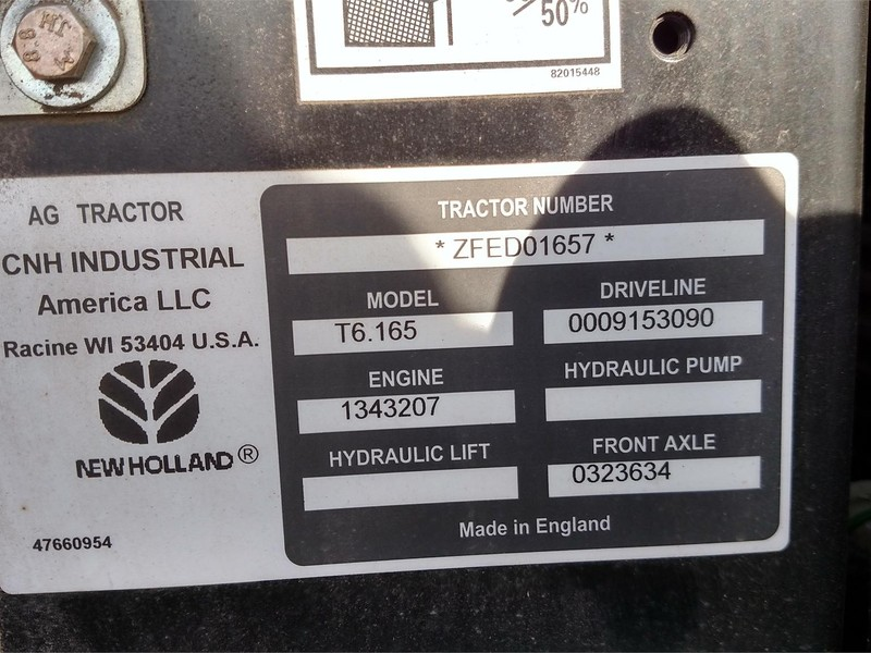 2015 New Holland T6.165 Tractor