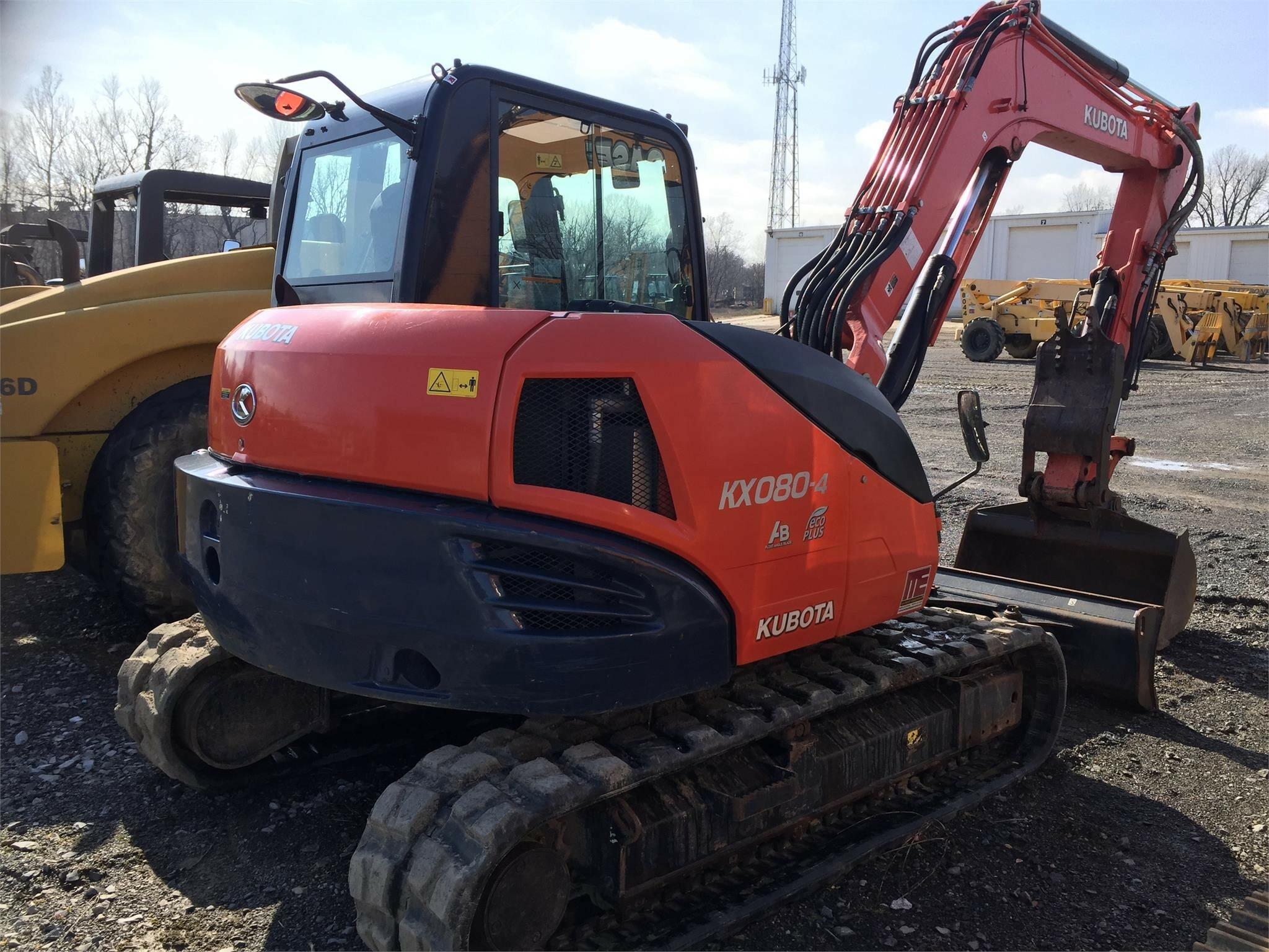 2015 Kubota KX080-4 Excavators and Mini Excavator