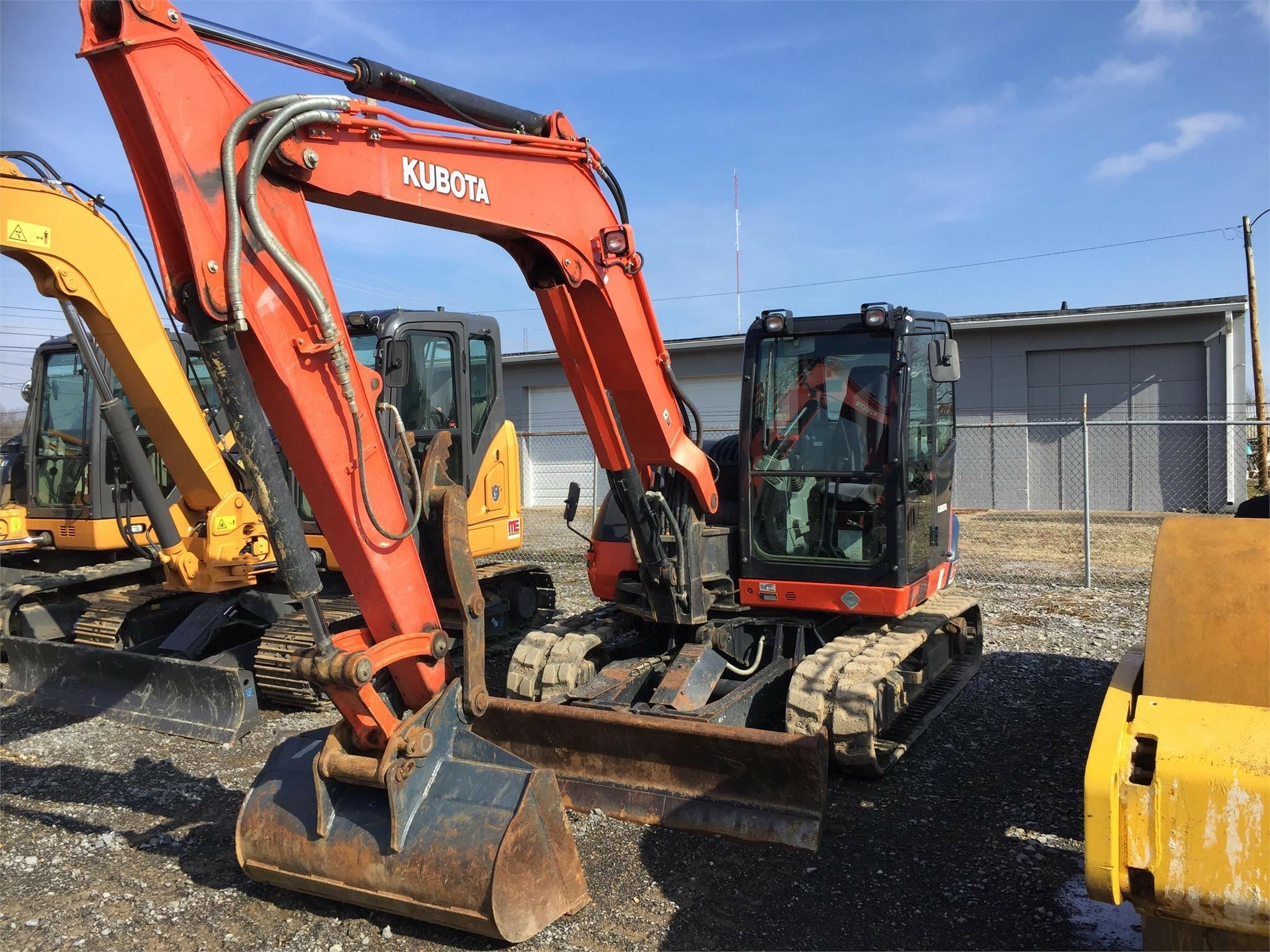 2014 Kubota KX080-4 Excavators and Mini Excavator