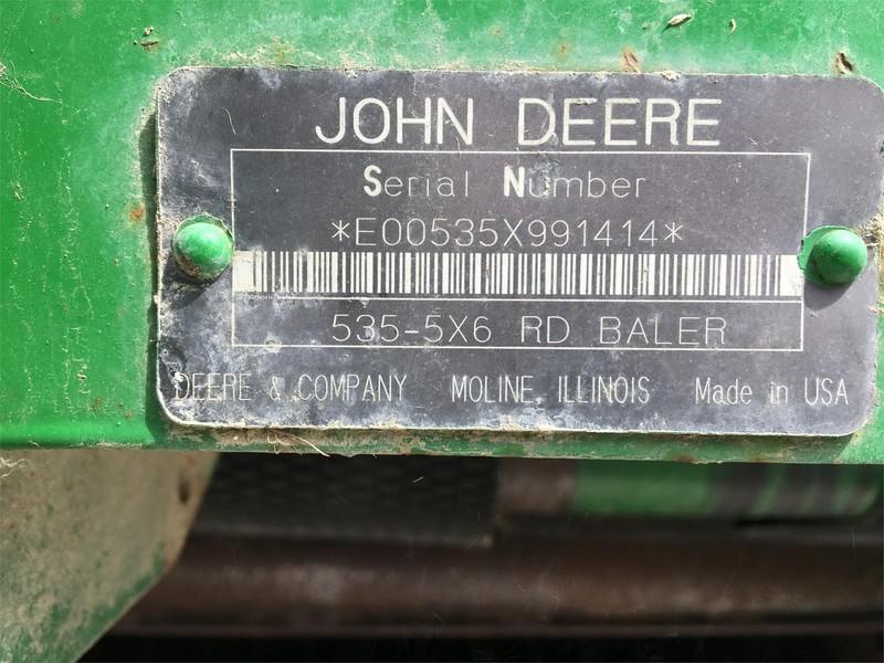 1996 John Deere 535 Round Baler