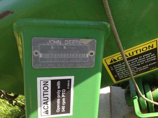 John Deere 265 Disk Mower