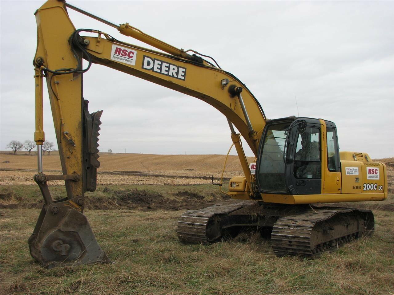 2006 Deere 200C LC Excavators and Mini Excavator