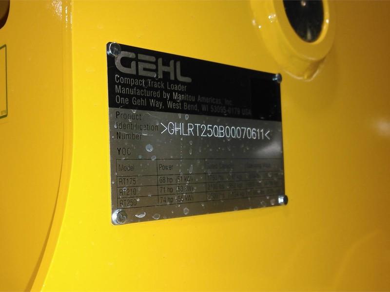 2017 Gehl RT250 Skid Steer