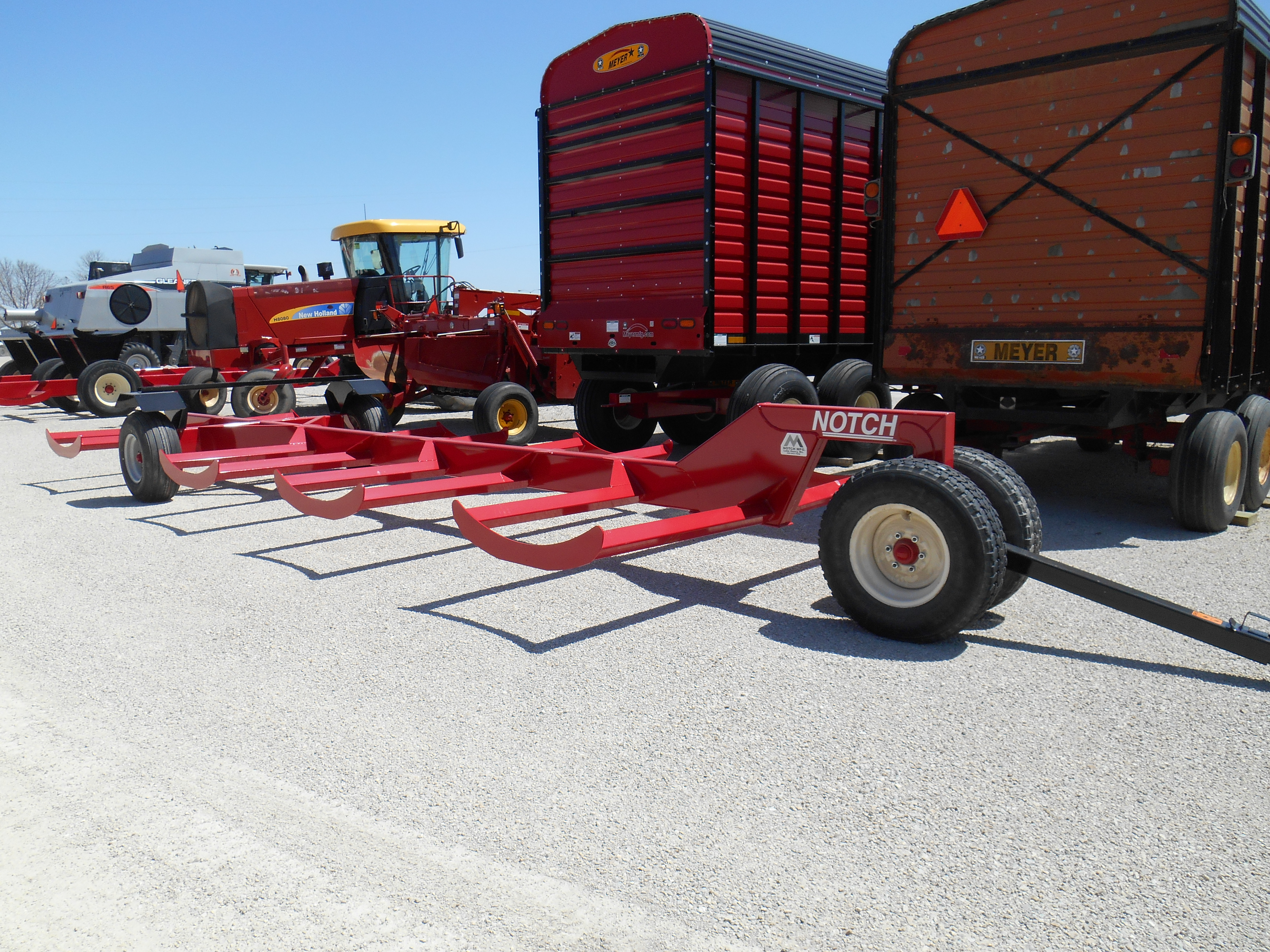 2021 Notch 8BT Bale Wagons and Trailer