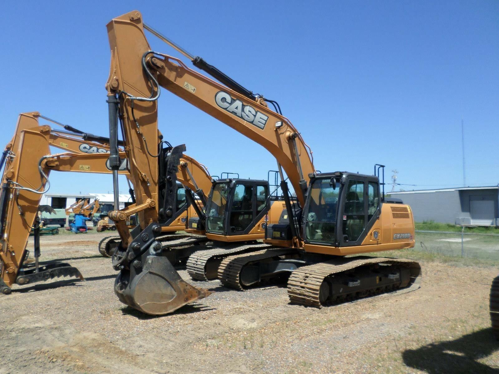 2016 Case CX210D Excavators and Mini Excavator