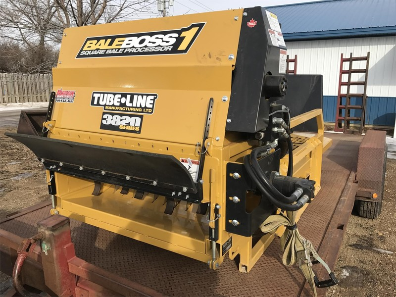 2017 Tubeline Bale Boss I Loader and Skid Steer Attachment