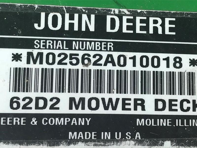 John Deere 62D2 Lawn and Garden