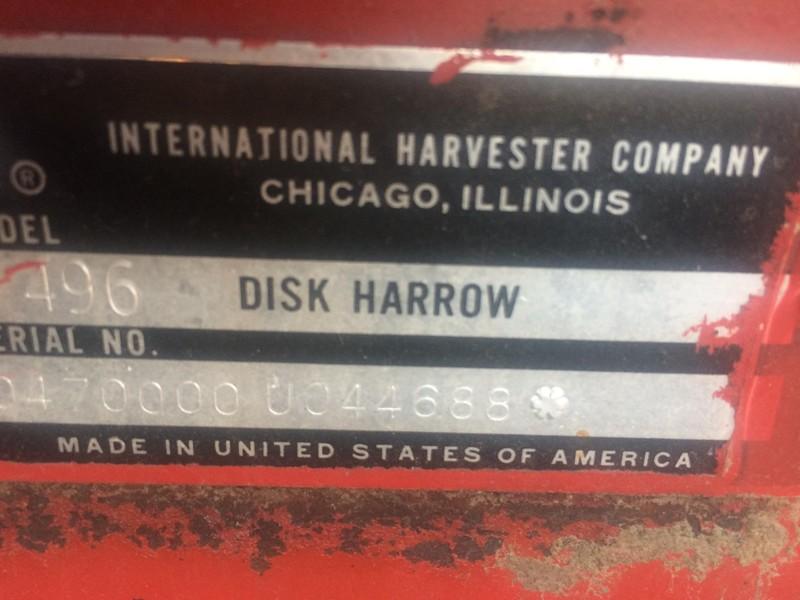 Case IH 496 Disk