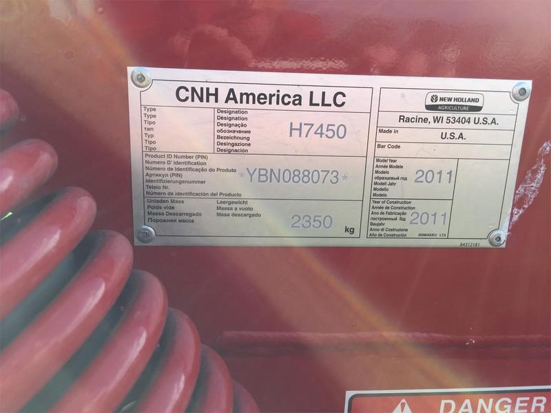2011 New Holland H7450 Mower Conditioner