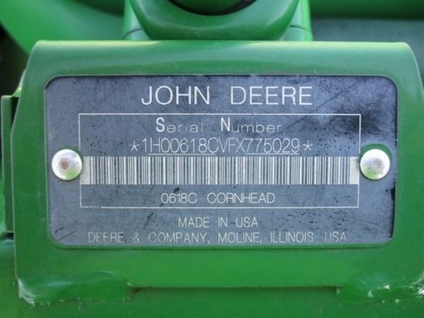 2015 John Deere 618C Corn Head