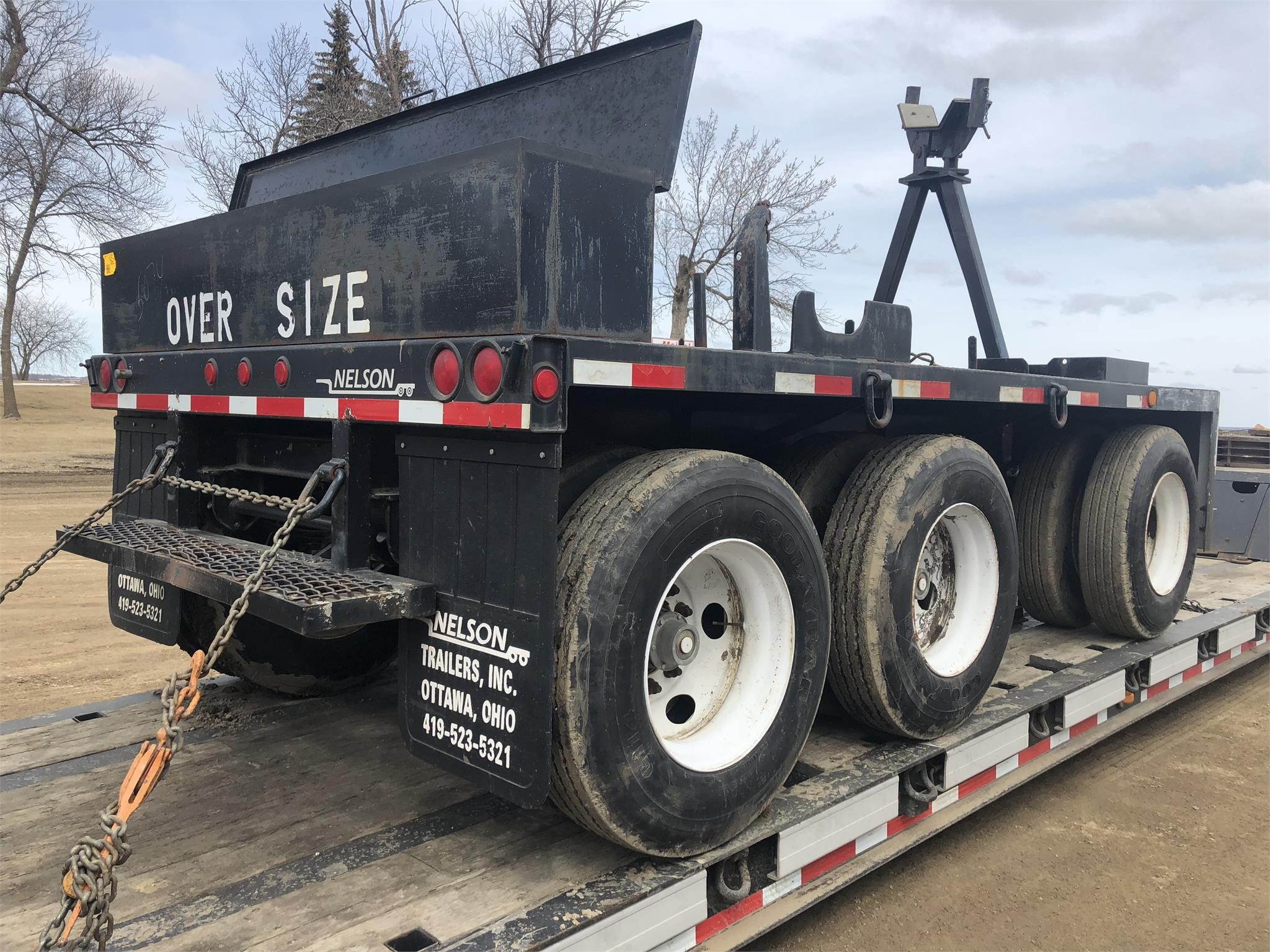 2000 NELSON HOT-130DB Flatbed Trailer