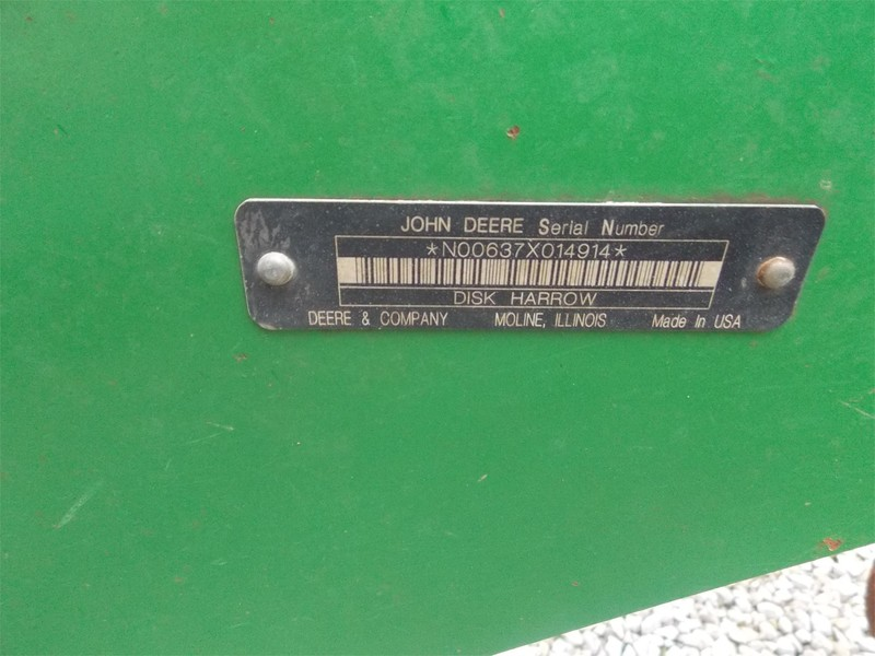 2011 John Deere 637 Disk