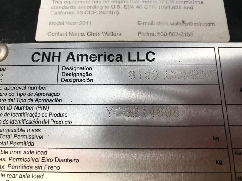 2011 Case IH 8120 Combine