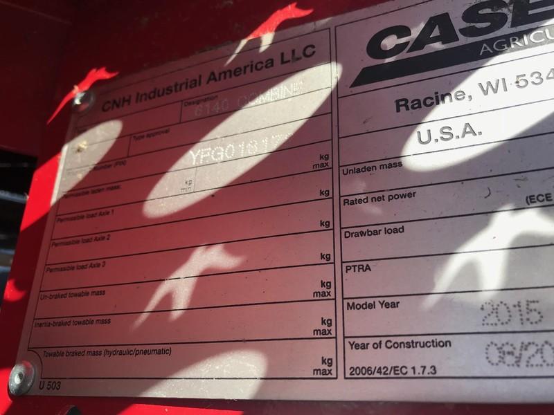 2015 Case IH 6140 Combine