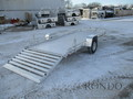 2019 Aluma Aluminum Single Axle Utility 7814ST Flatbed Trailer
