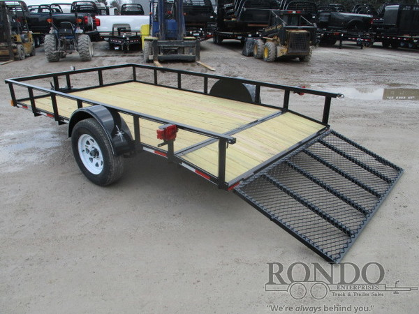 2018 Wesco Single Axle Utility Flatbed Trailer