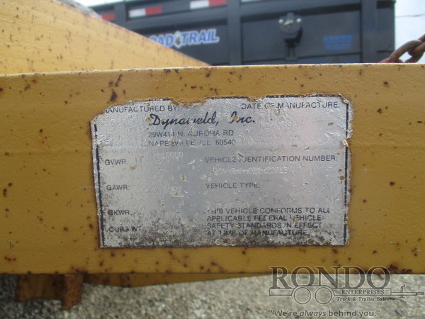 1989 Dynaweld Equipment Flatbed Trailer